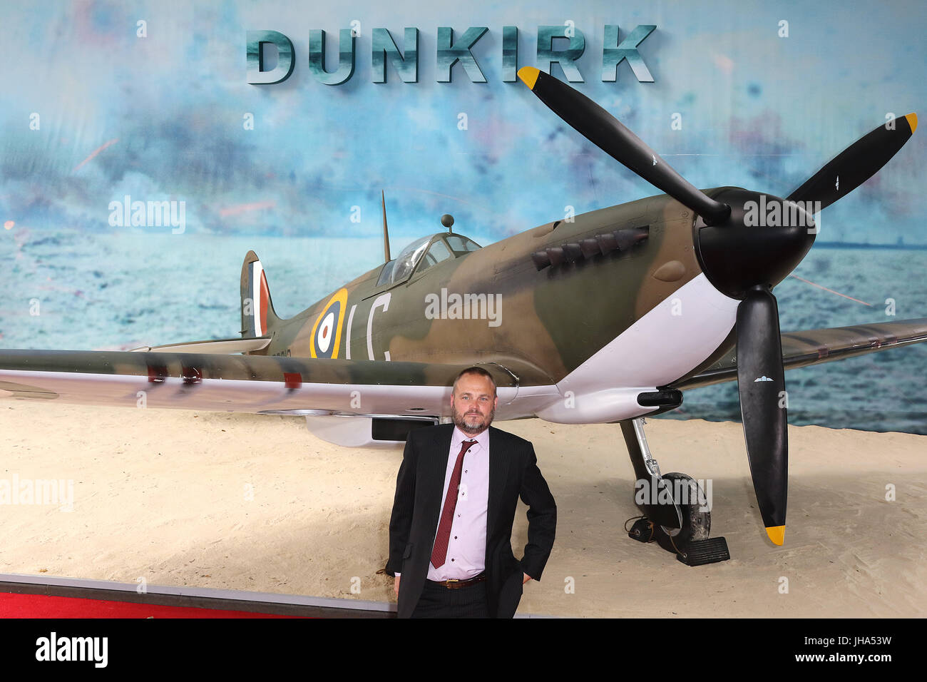 London, UK. 13th July, 2017. Al Murray, Dunkirk - World film premiere, Leicester Square Gardens, London UK, 13 July - Stock Image