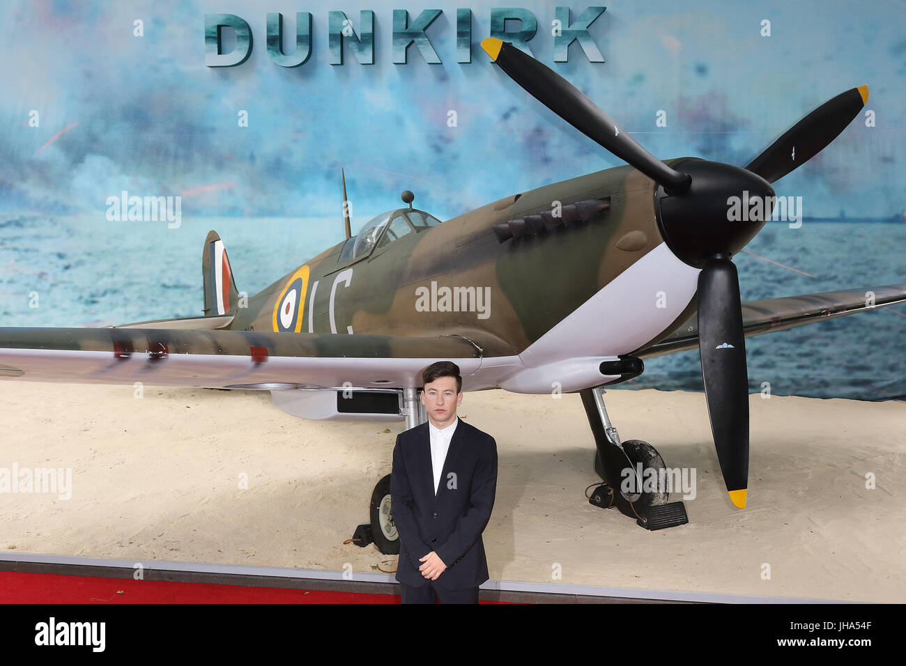 London, UK. 13th July, 2017. Barry Keoghan, Dunkirk - World film premiere, Leicester Square Gardens, London UK, - Stock Image