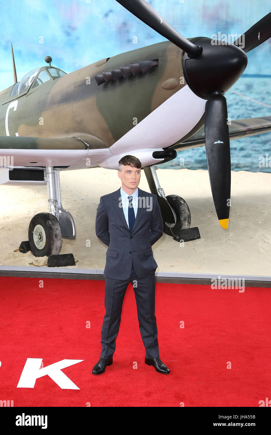 London, UK. 13th July, 2017. Cillian Murphy, Dunkirk - World film premiere, Leicester Square Gardens, London UK, - Stock Image