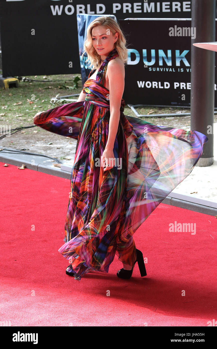 London, UK. 13th July, 2017. Clara Paget, Dunkirk - World film premiere, Leicester Square Gardens, London UK, 13 - Stock Image