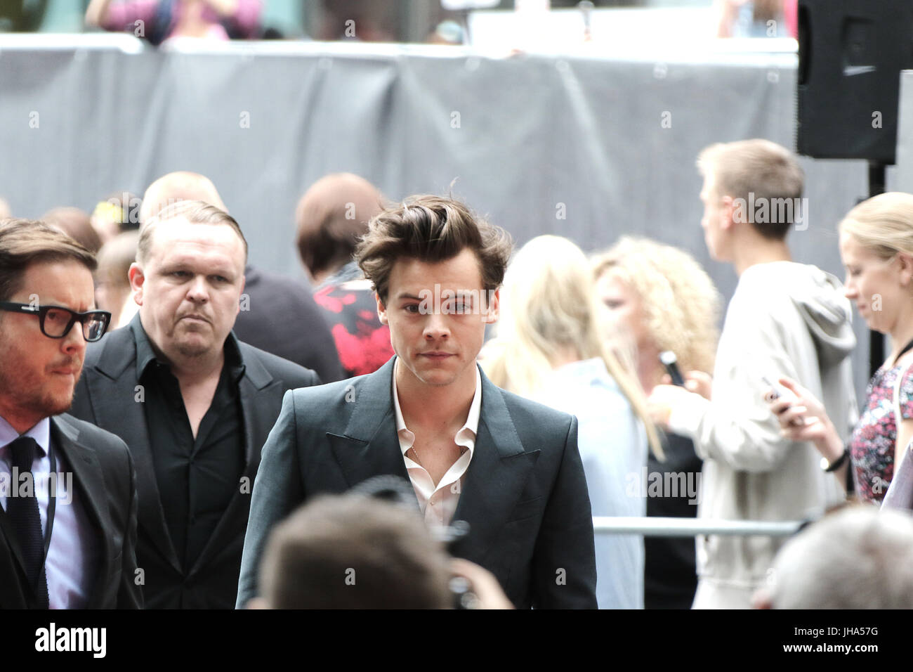 London, UK. 13th July, 2017. Harry Styles, Dunkirk - World film premiere, Leicester Square Gardens, London UK, 13 - Stock Image