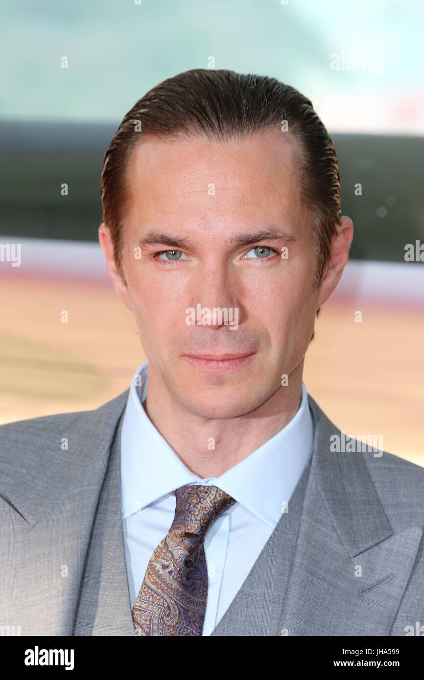 London, UK. 13th July, 2017. James D'Arcy, Dunkirk - World film premiere, Leicester Square Gardens, London UK, - Stock Image