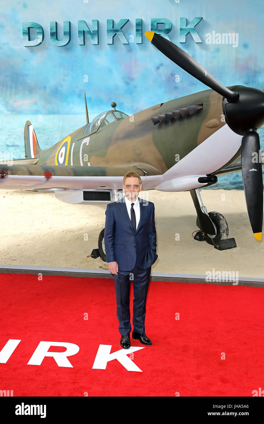 London, UK. 13th July, 2017. Kenneth Branagh, Dunkirk - World film premiere, Leicester Square Gardens, London UK, - Stock Image