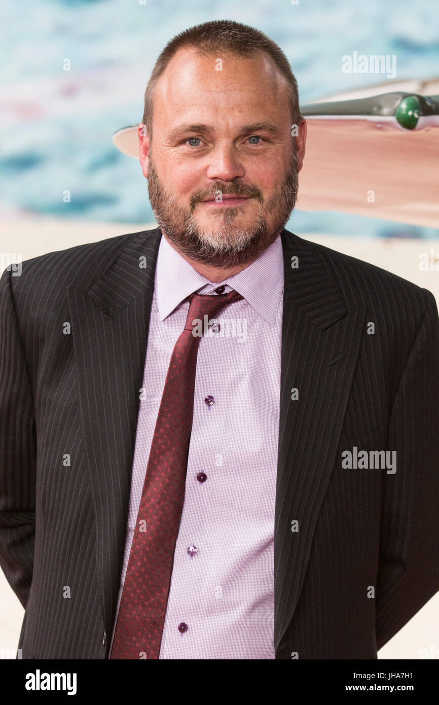 London, UK. 13 July 2017. Al Murray arrives for the World Premiere of the Christopher Nolan film Dunkirk in Leicester - Stock Image