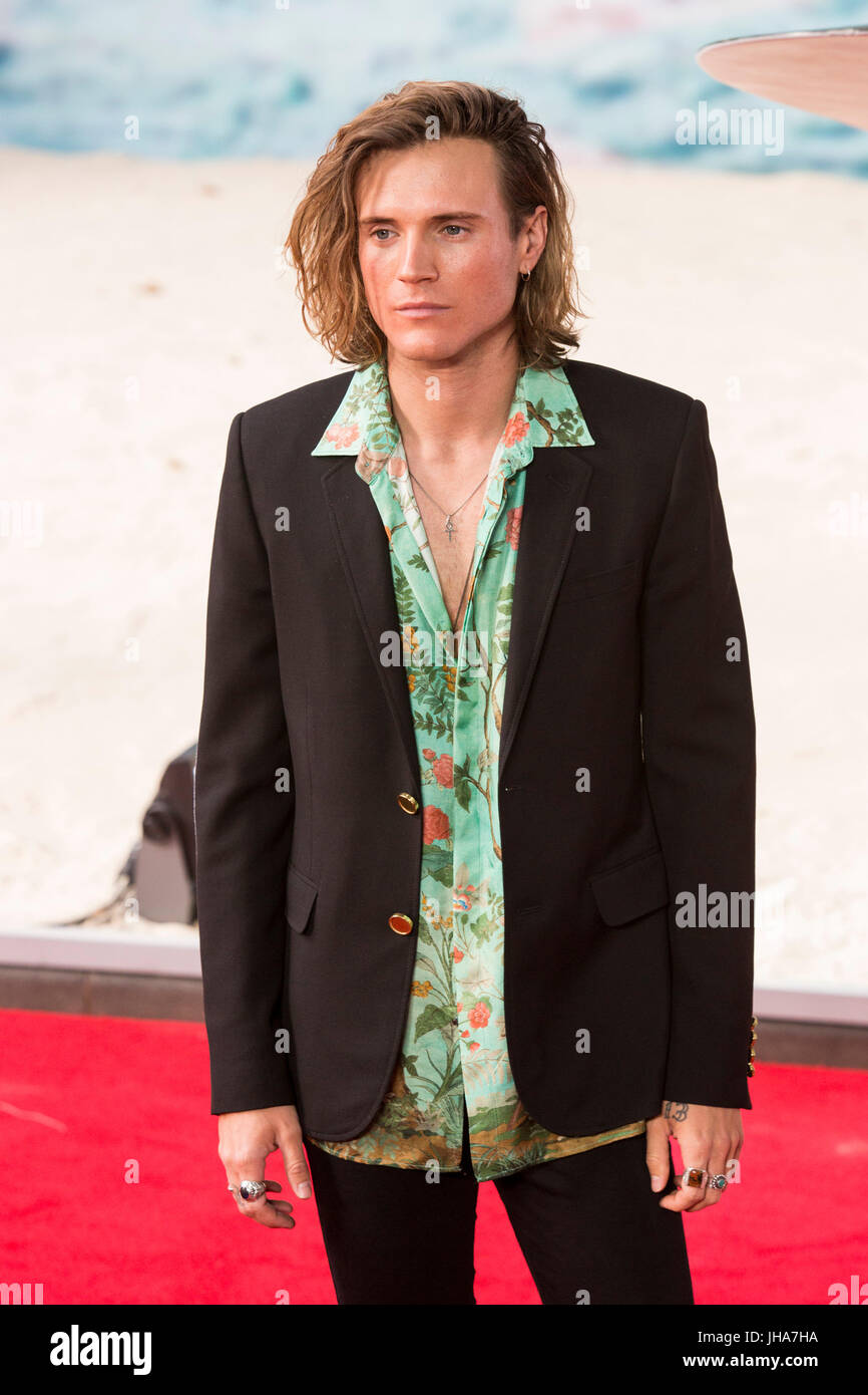 London, UK. 13 July 2017. Dougie Poynter arrives for the World Premiere of the Christopher Nolan film Dunkirk in - Stock Image