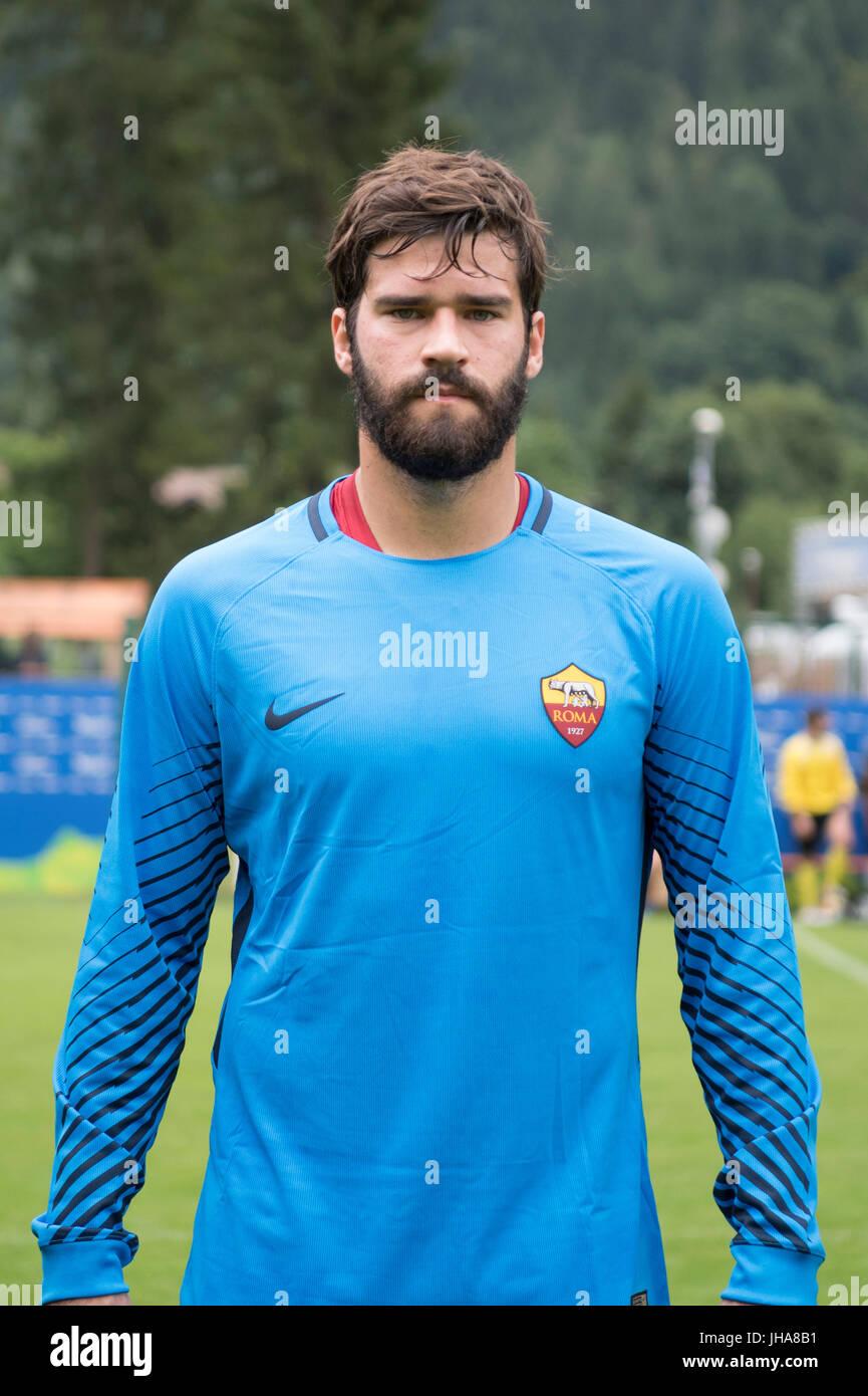ea4c99878 Alisson Becker (Roma) Football Soccer   Pre-season friendly match between  ACD Pinzolo Valrendena 0-8 AS Roma in Pinzolo