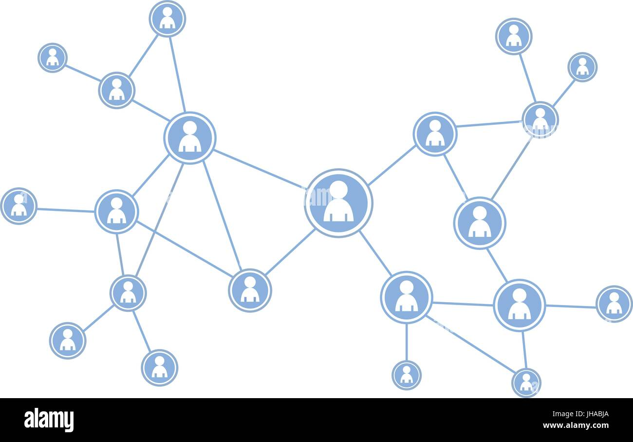 social media icons / illustration - network - Stock Vector