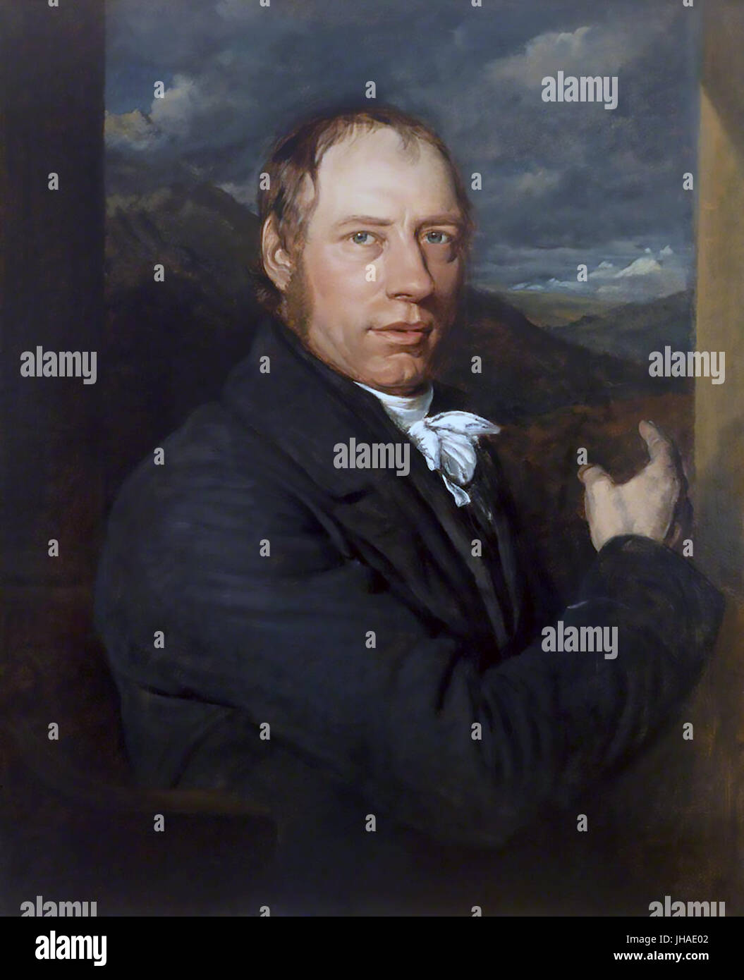 RICHARD TREVITHICK  (1771-1833) English mining engineer and inventor in 1816. Original painting in the Science Museum, - Stock Image