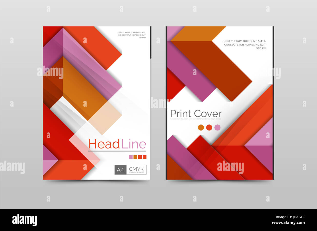 geometric brochure front page business annual report cover template
