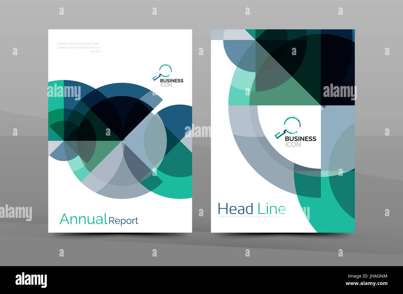 Cover Design Of Annual Report Brochure Modern Abstract Background Template Layout A4 Size Page