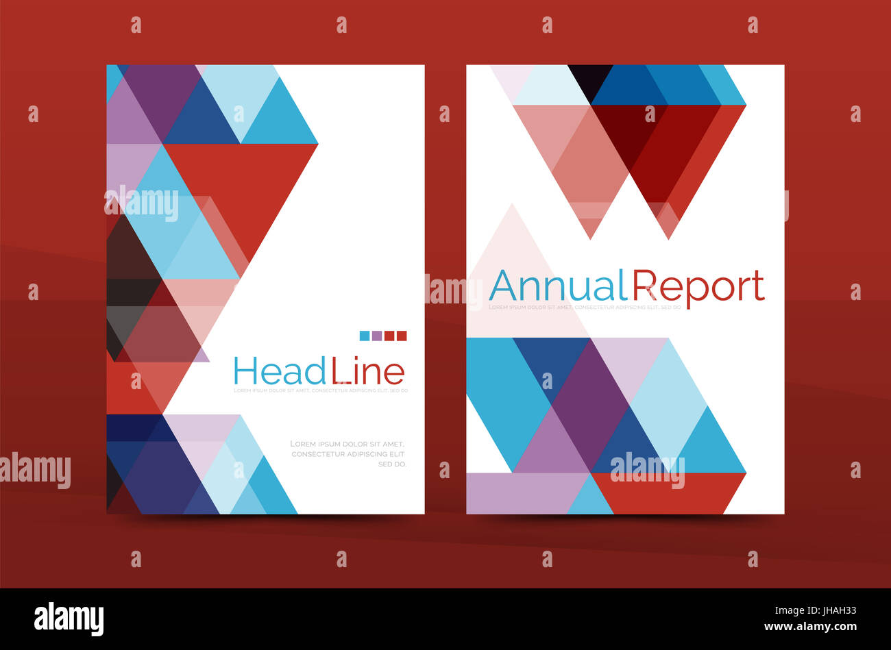 color business brochure cover template annual report front page a4