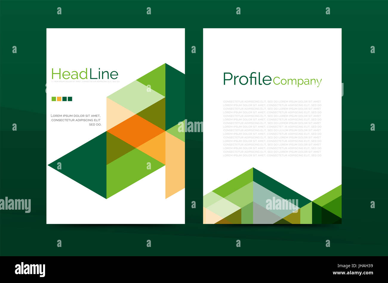 Color Business Brochure Cover Template, Annual Report Front Page, A4 Stock Photo: 148365037