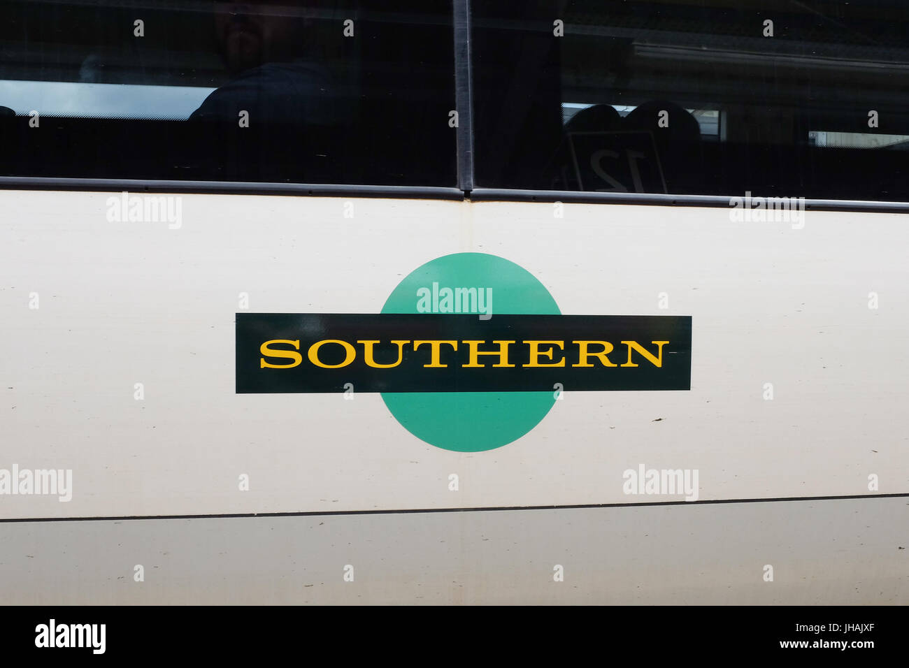 Logo of Southern trains in England, U.K. - Stock Image