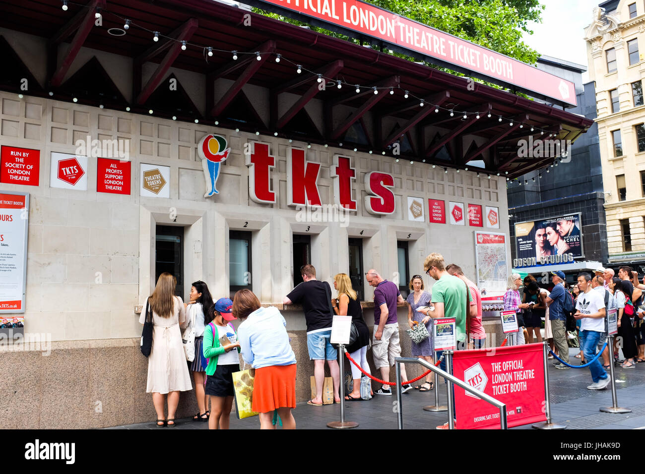 The theatre ticket booth in Leicester Square, London, England. Stock Photo