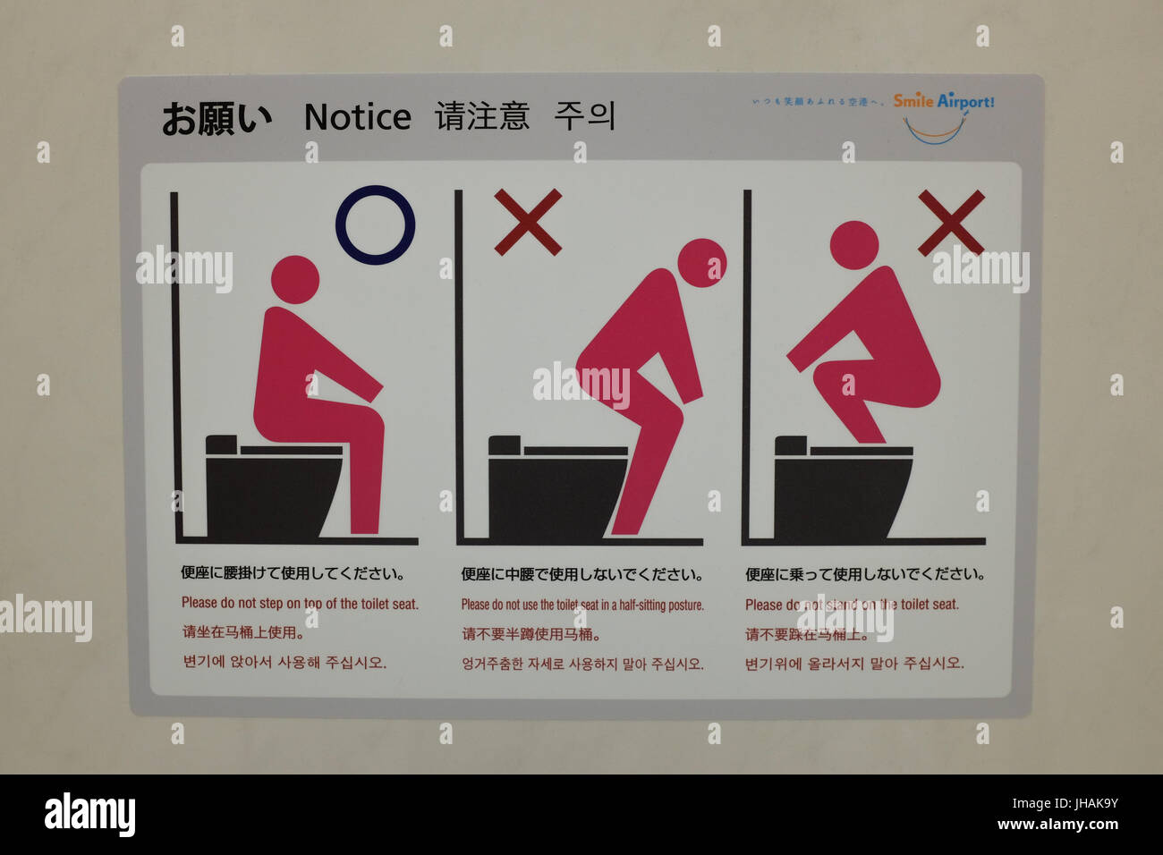 Instructions Explaining How To Use A Western Toilet Stock
