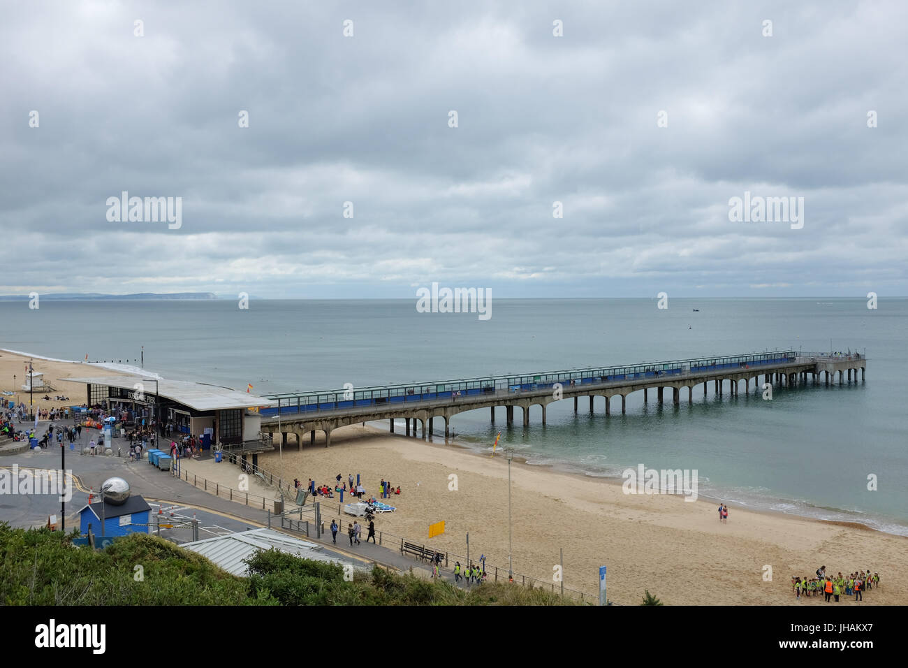 Boscombe pier near Bournemouth, Dorset, England. - Stock Image