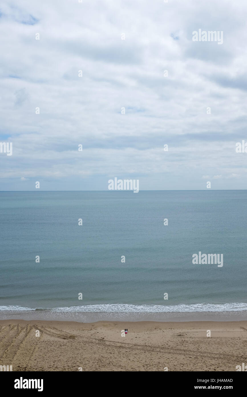 Bournemouth beach in England. - Stock Image