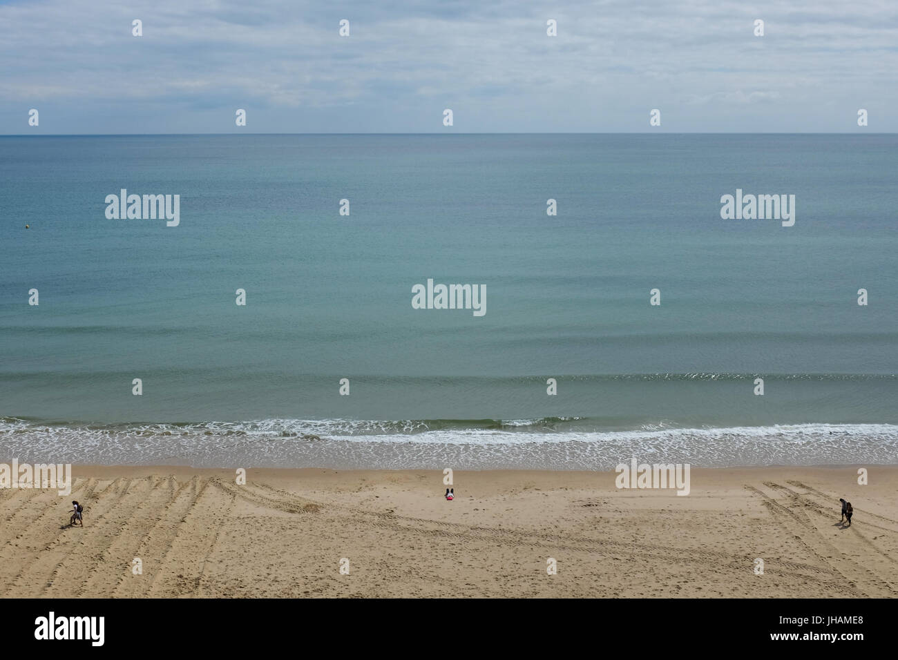 Bournemouth beach in England. Stock Photo