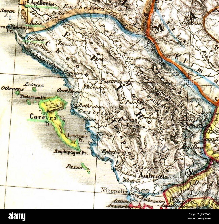 Epirus antiquus tabula - Stock Image