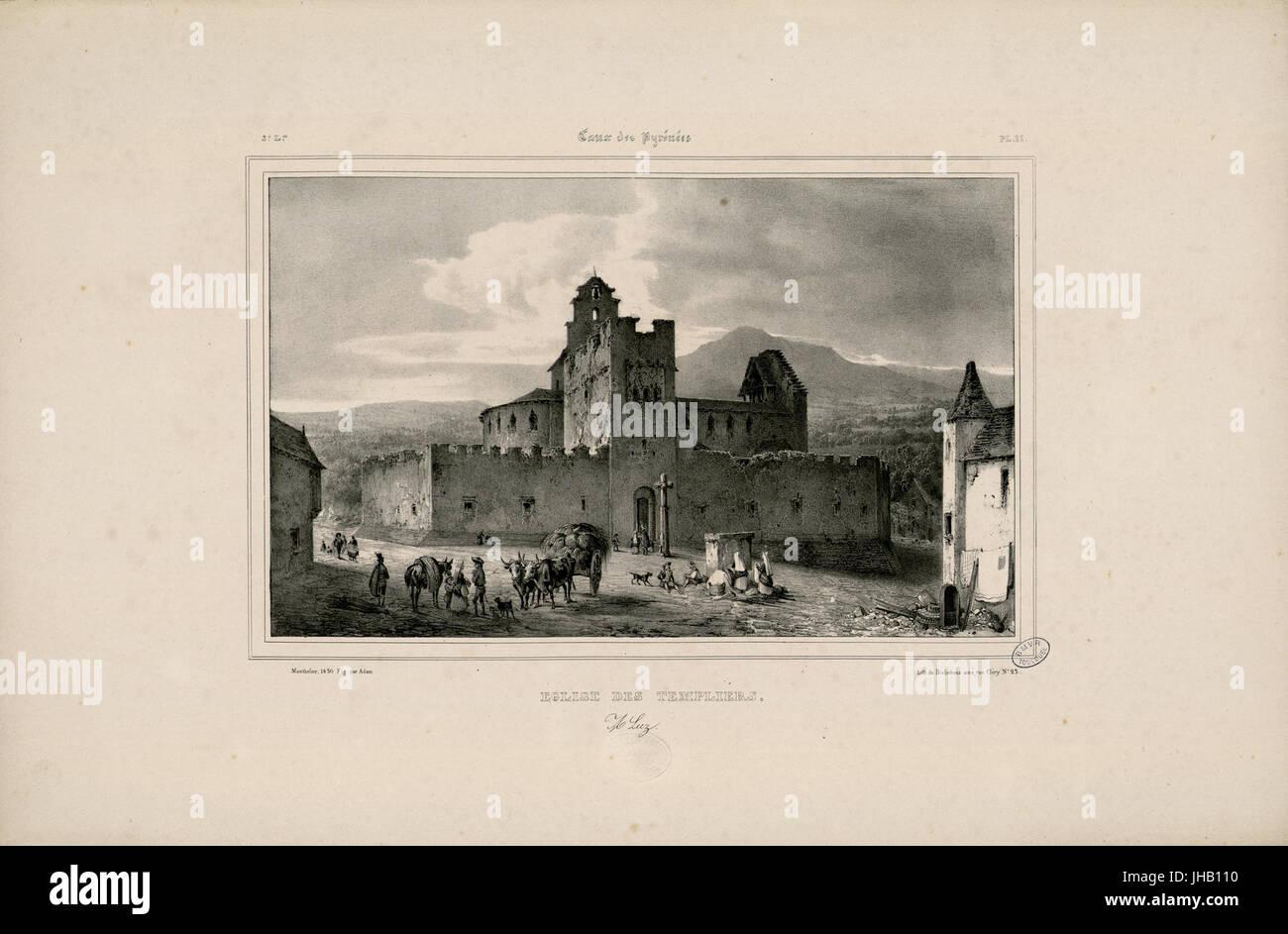 Eglise des Templiers - A Luz - Fonds Ancely - B315556101 A MONTHELIER 1 2 012 - Stock Image