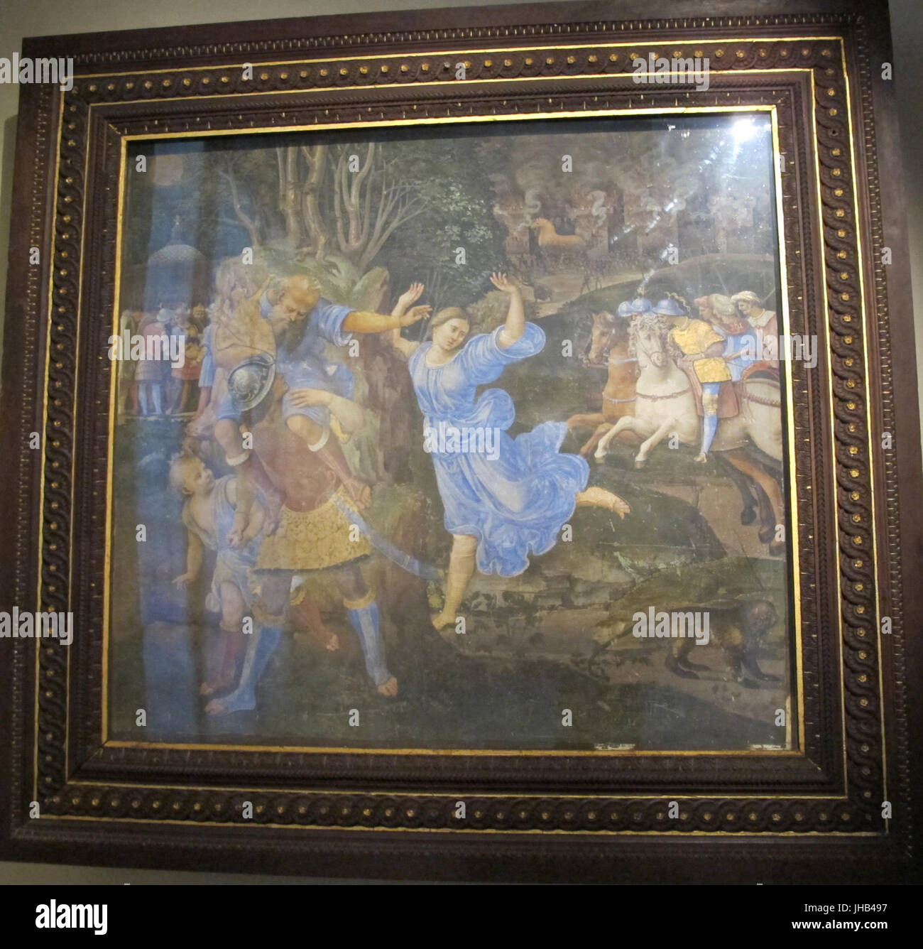 Girolamo genga, fuga da troiai, 1508-09, dal palazzo del magnifico petrucci 01 - Stock Image