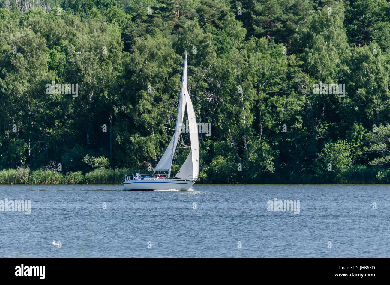 Sailing in the wind. - Stock Image