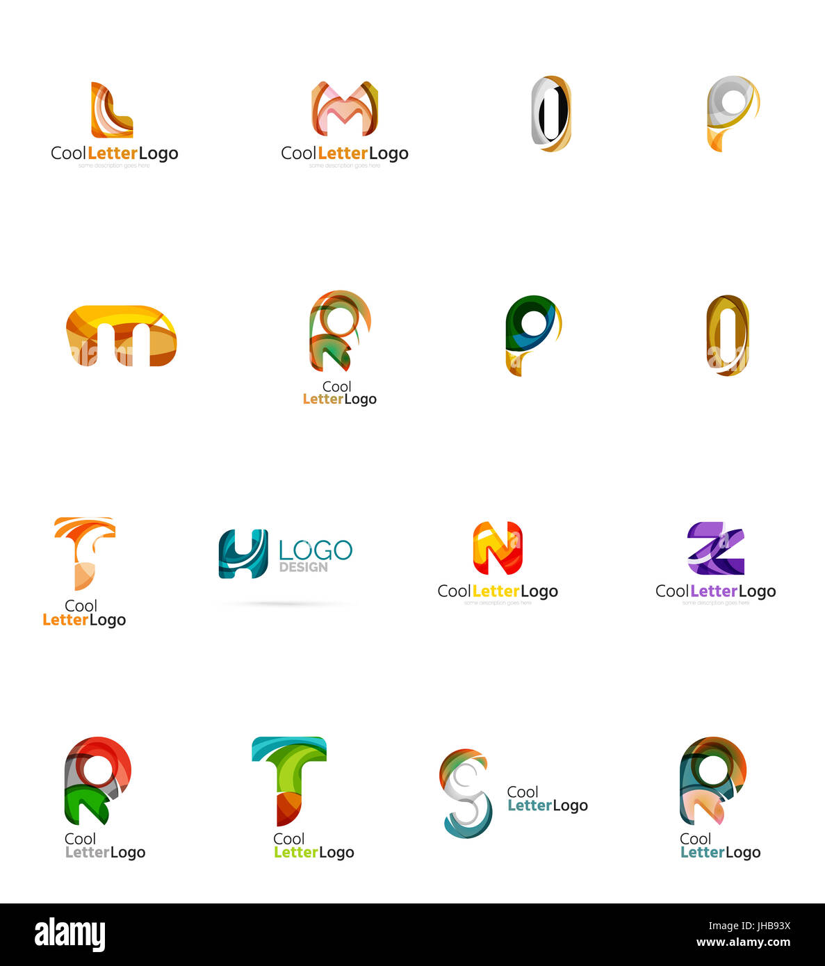 Set Of New Universal Company Logo Ideas Geometric Business