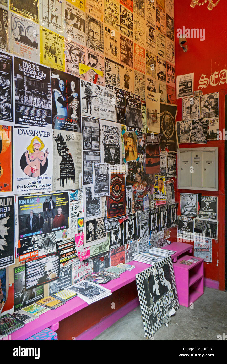 The entranceway to Search & Destroy a used clothing store on St. Marks Place in the East Village that specializes - Stock Image