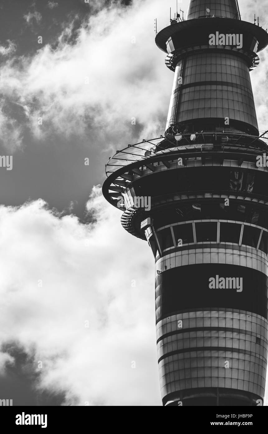 Sky Tower Auckland, New Zealand - Stock Image