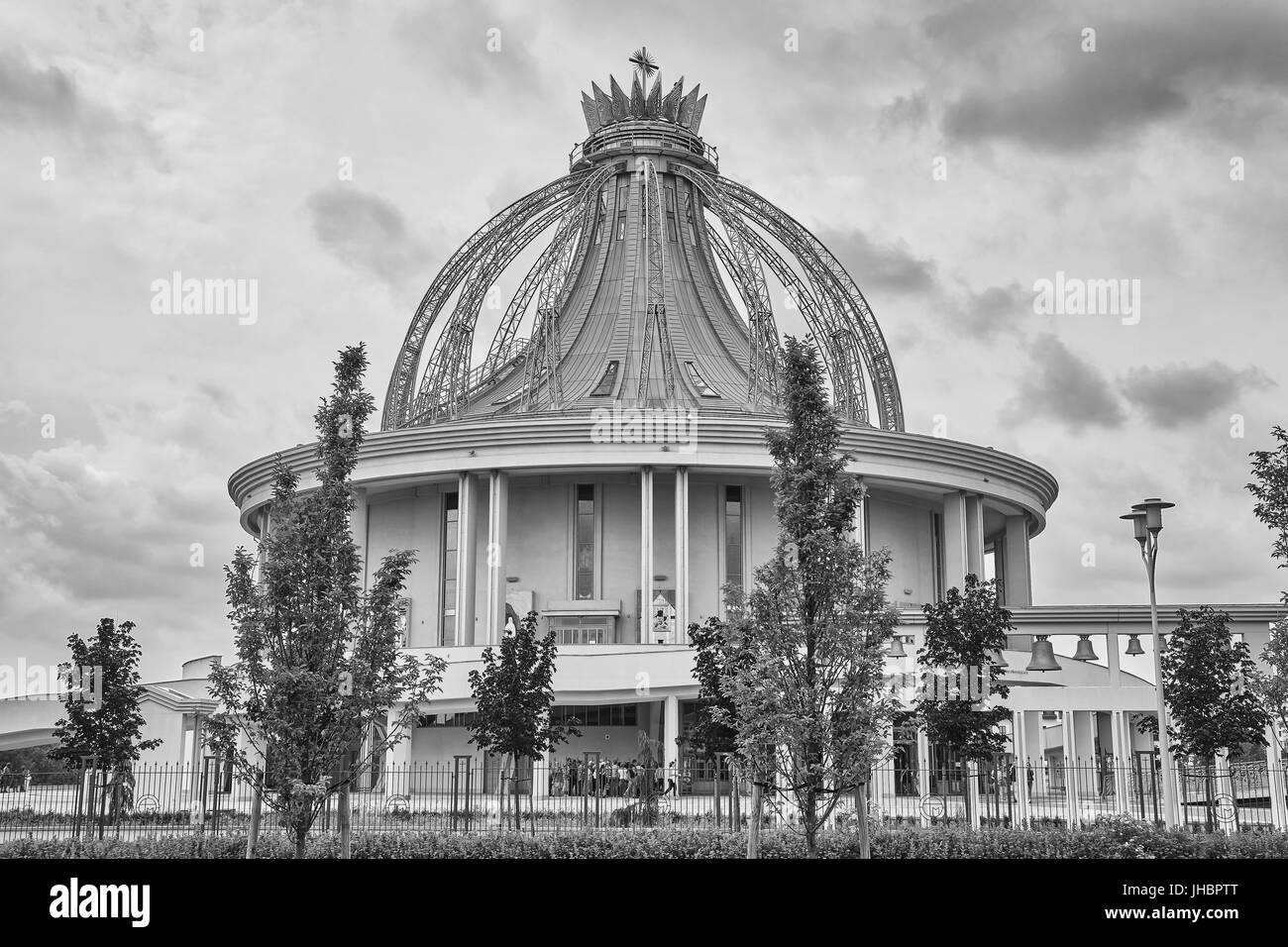 Torun, Poland - July 08, 2017: Newly built Shrine of Our Lady the Star of New Evangelization and St. John Paul II. - Stock Image