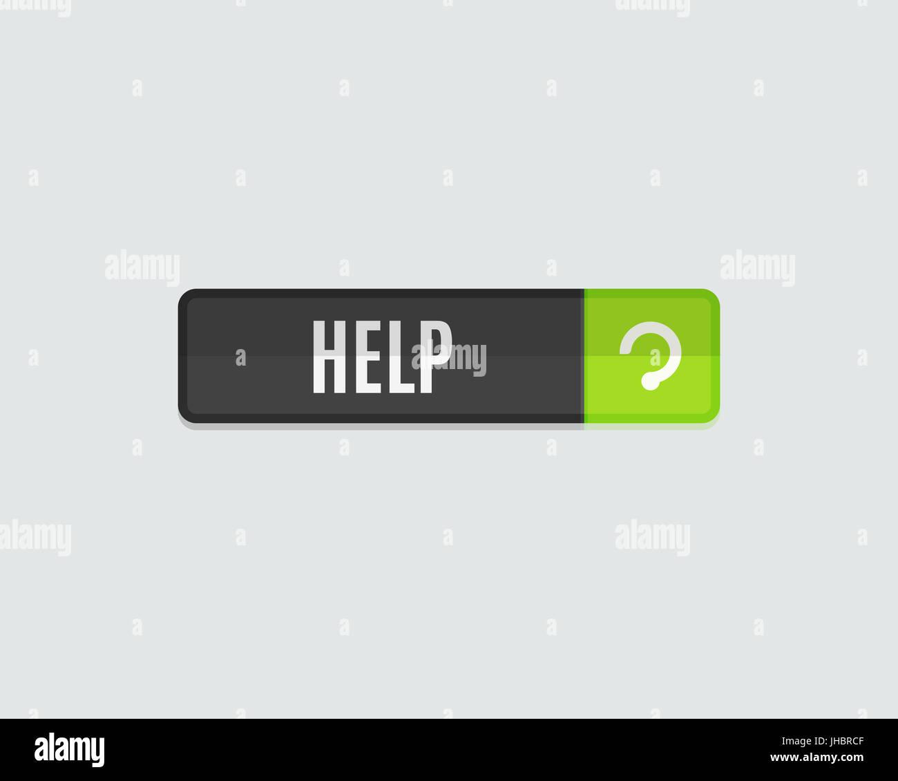 Help web button, modern flat design  Website template Stock Photo