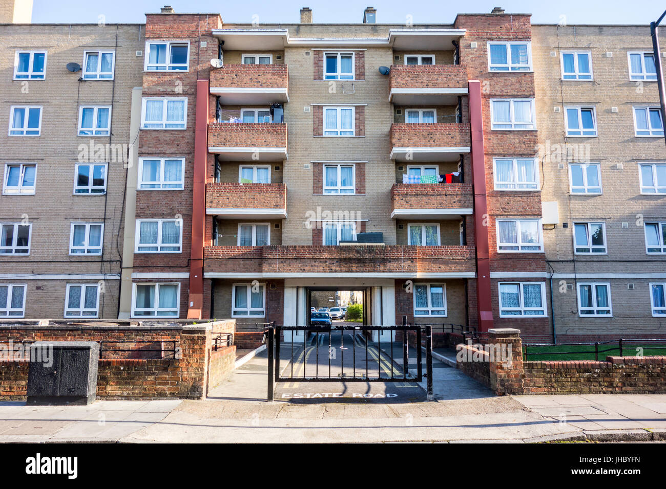 Collingwood House, Darling Row, Bethnal Green, Tower Hamlets, East London, UK Stock Photo