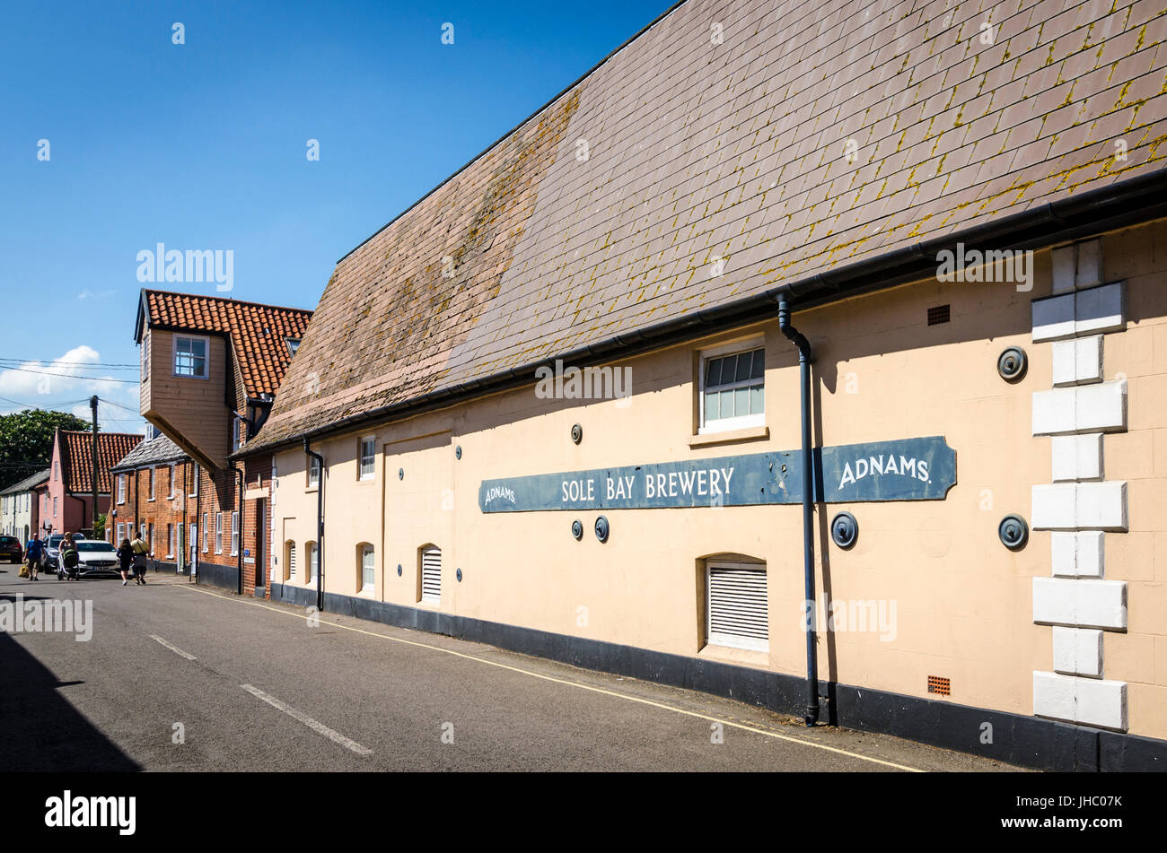 Adnams Sole Bay Brewery, Southwold, Suffolk, England - Stock Image