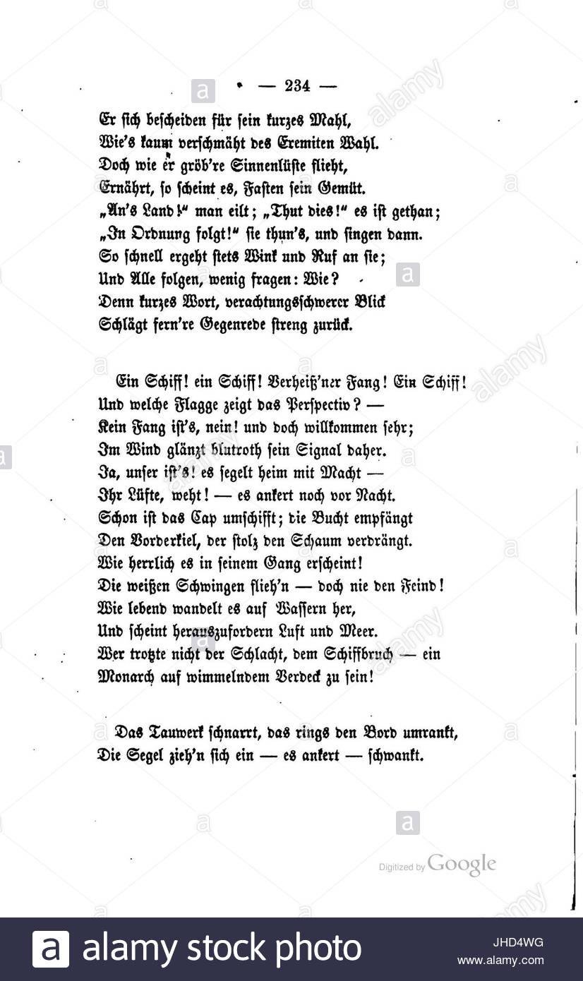 Joseph Emanuel Hilscher Gedichte 234 Stock Photo