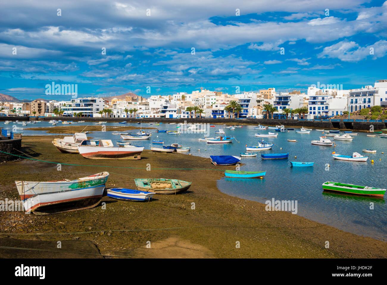 Harbor of Arrecife, Lanzarote, Canary Islands, Spain - Stock Image