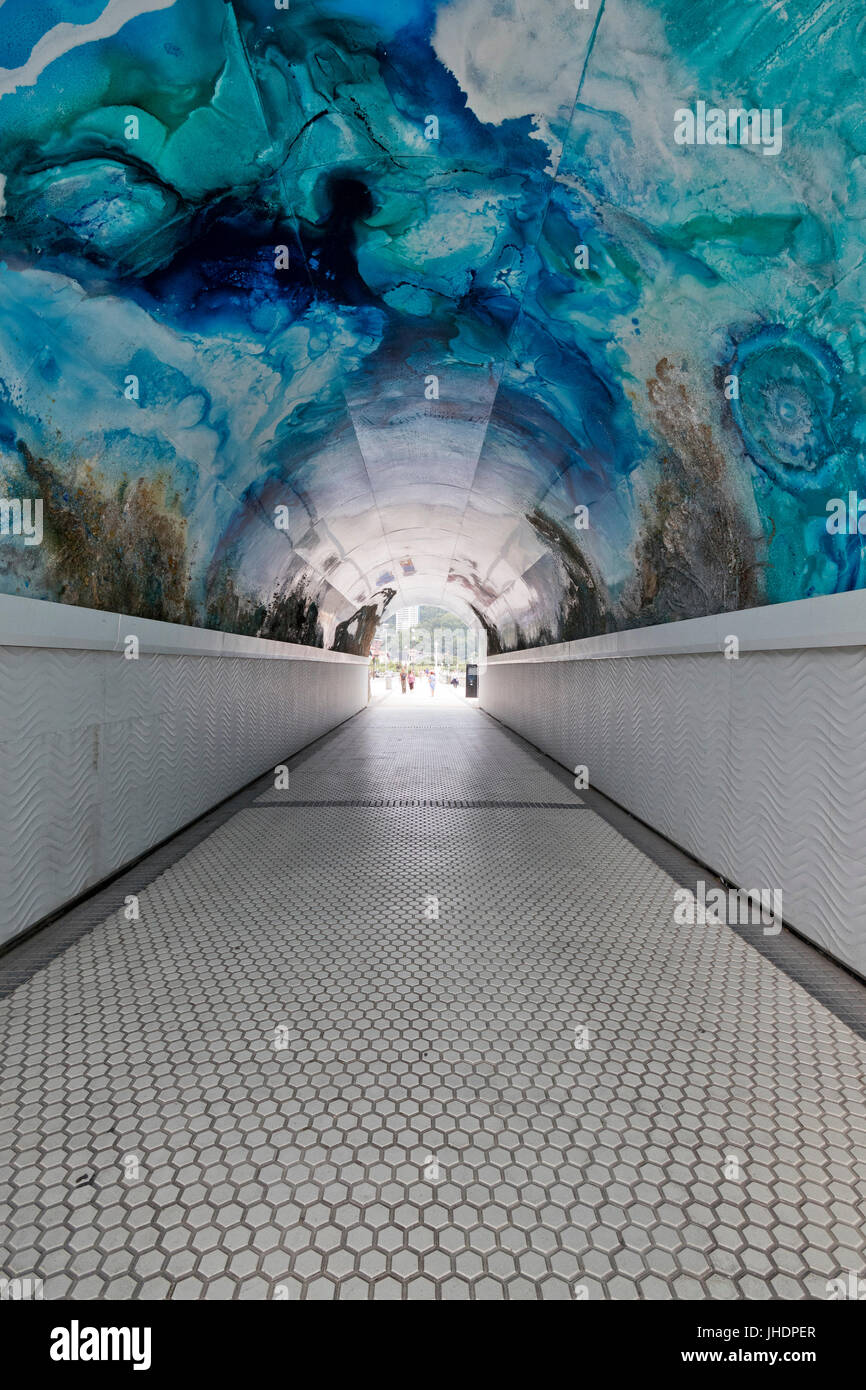 Tunel del antiguo - Miramar (San Sebastian, Guipuzcoa, Basque country, Spain). - Stock Image