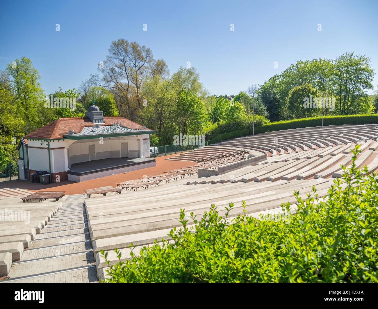 Kelvingrove bandstand - Stock Image