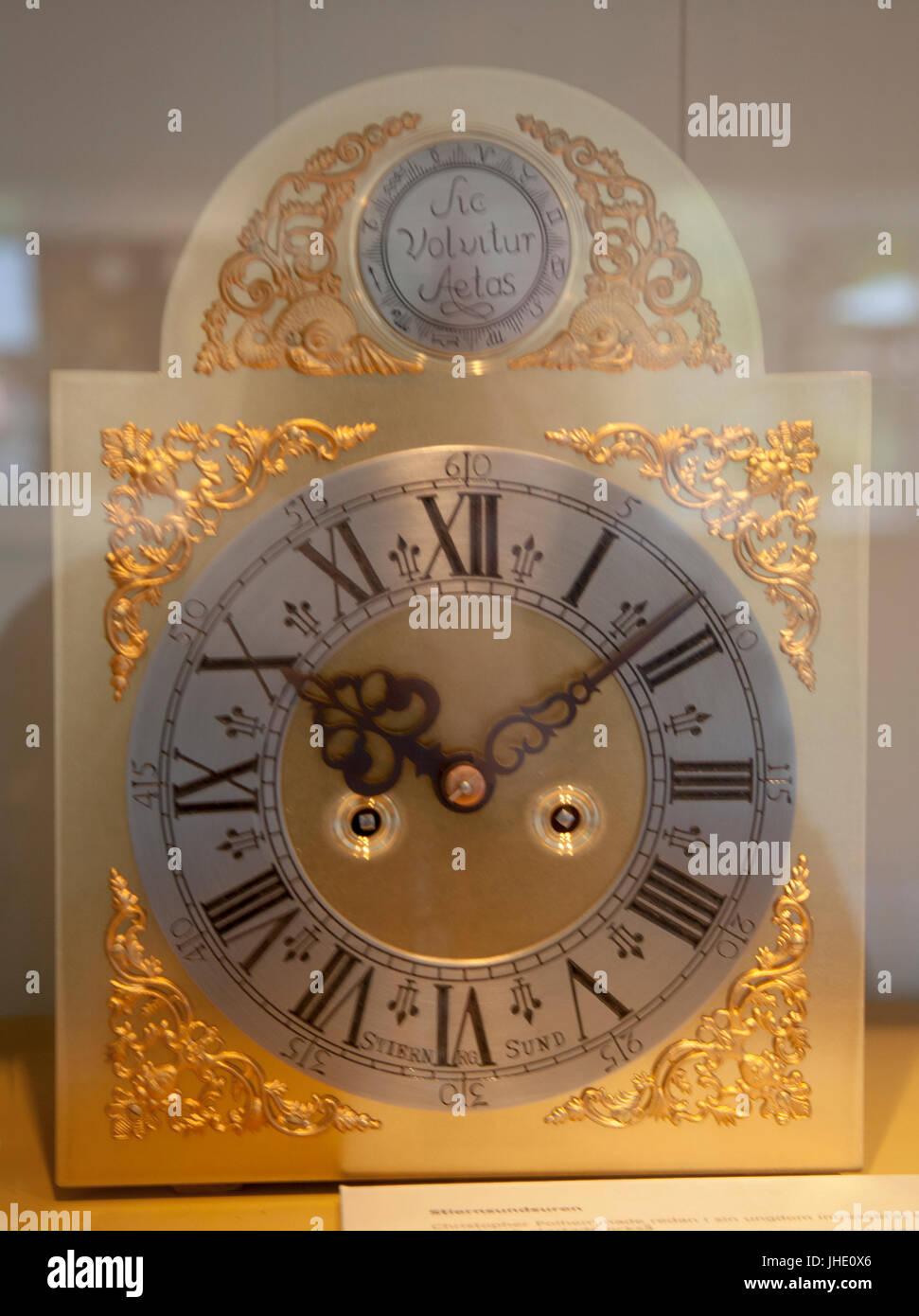 STJÄRNSUND CLOCKS is still produced according to Christopher Polhems design from 1700s - Stock Image