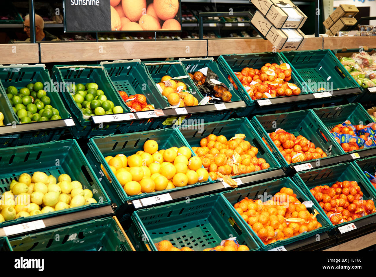 Grocery Store Fruit Aisle