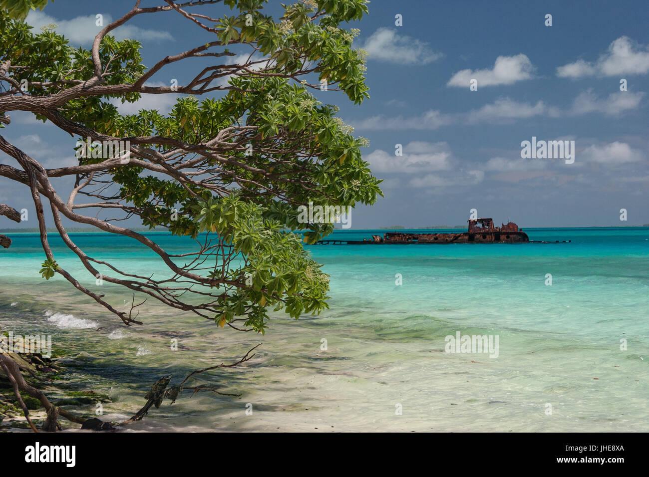 ship to Kiribati - Stock Image