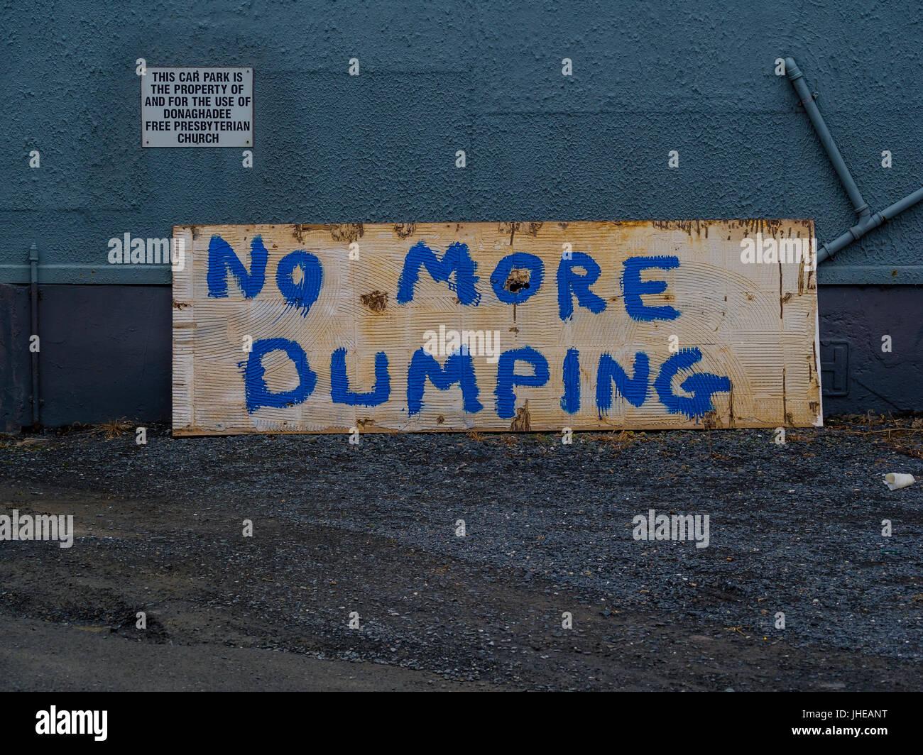 No More Dumping - Stock Image