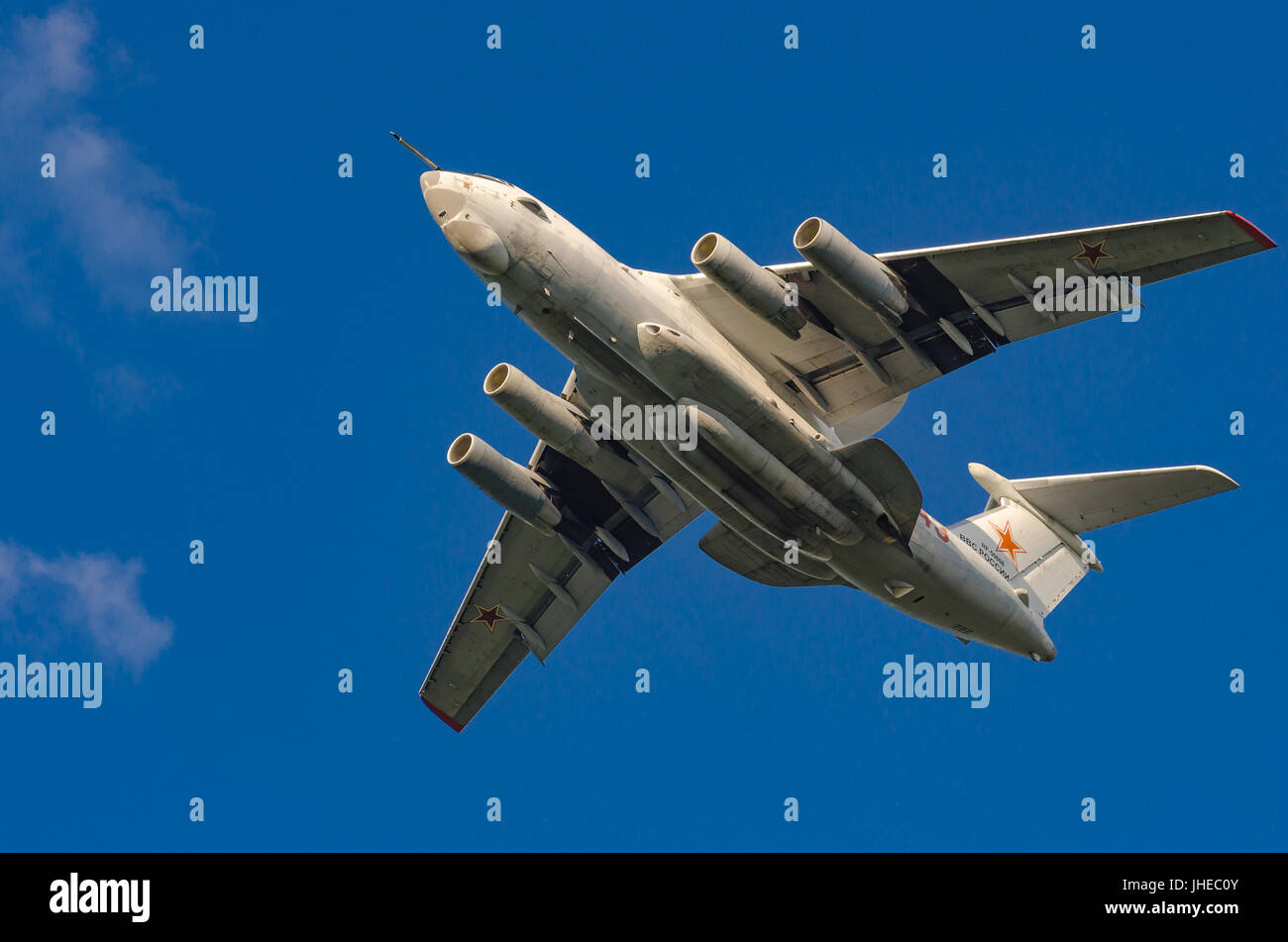 The plane on takeoff - Stock Image