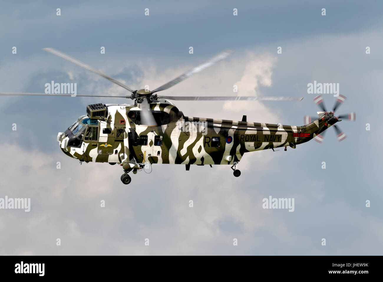 A Royal Navy Westland Sea King HC.4, helicopter at the RNAS Yeovilton International Air Day 2011. - Stock Image