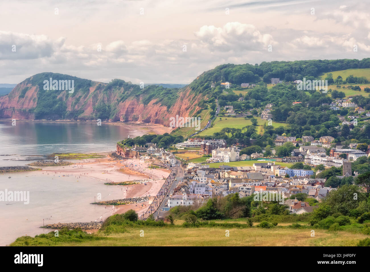 Beach in Sidmouth, Devon, South of England. - Stock Image