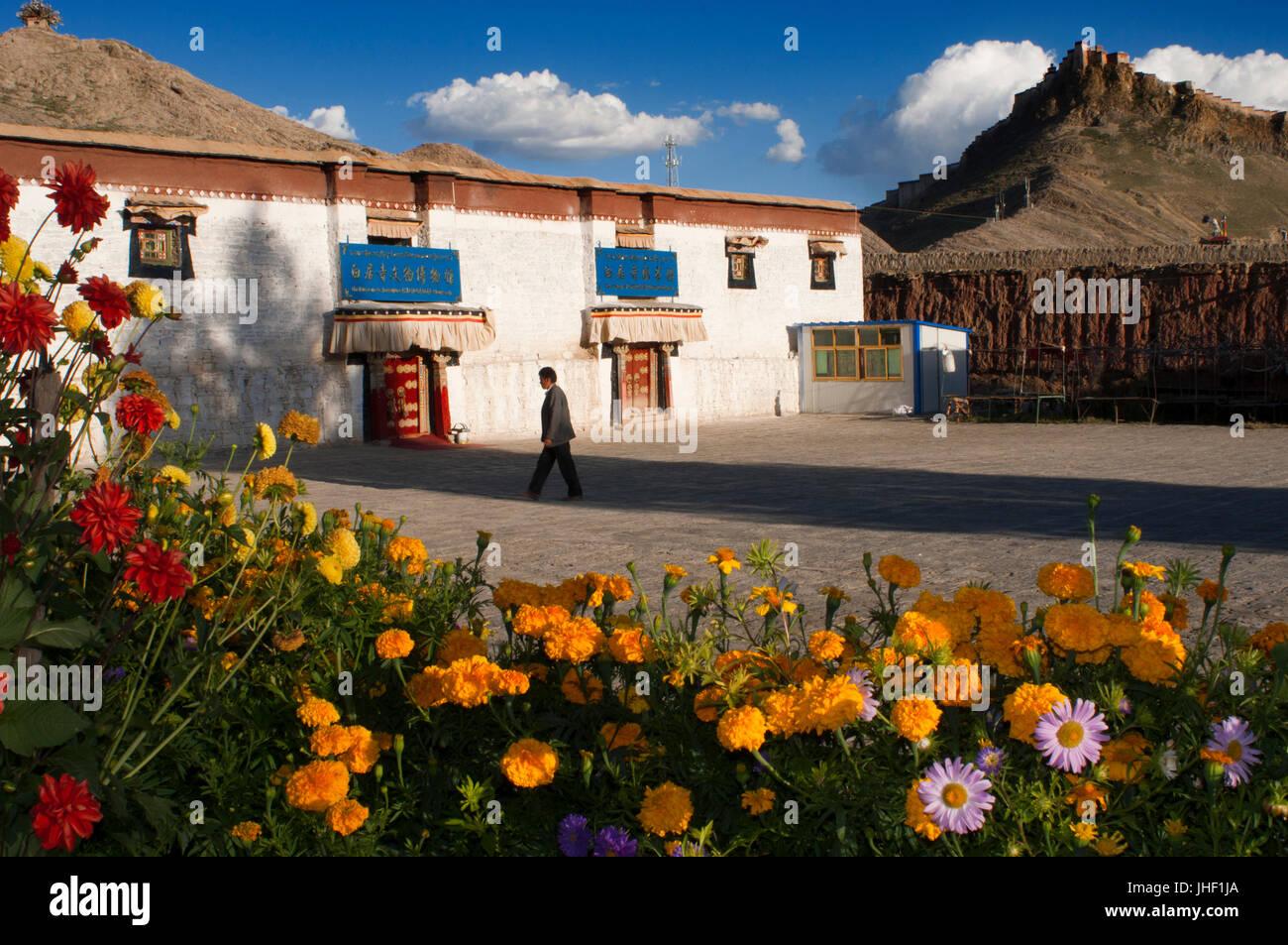 Inside the monastery Paelkhor, Pelkhor Chode, Gyangze, Tibet, China, Asia - Stock Image