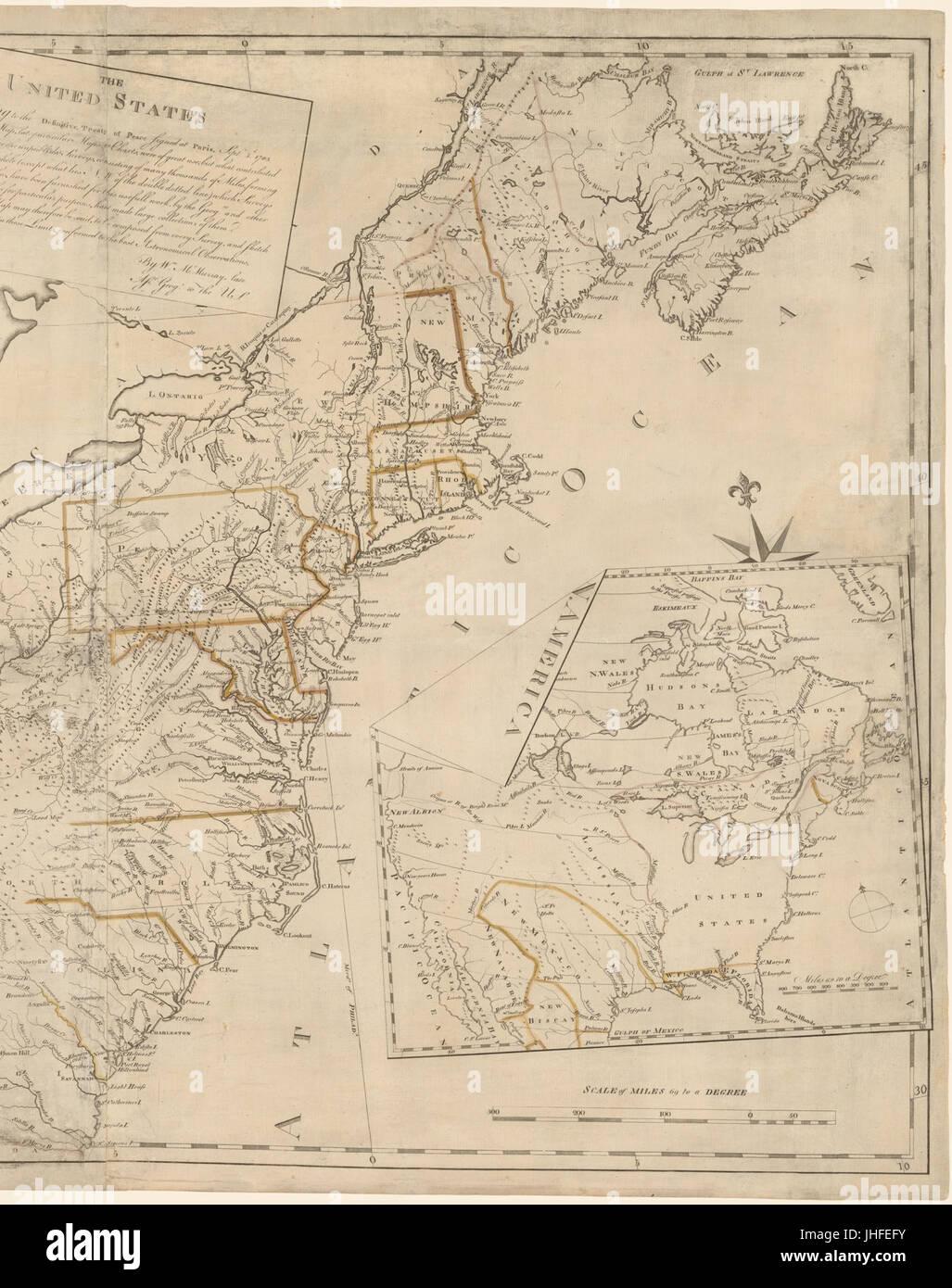 Treaty Of Paris Map 1783.Treaty Of Paris 1783 Stock Photos Treaty Of Paris 1783 Stock