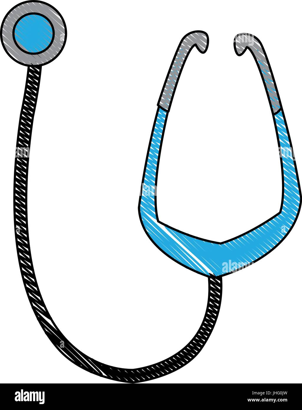 medical stethoscope equipment medicine diagnosis healthcare - Stock Image