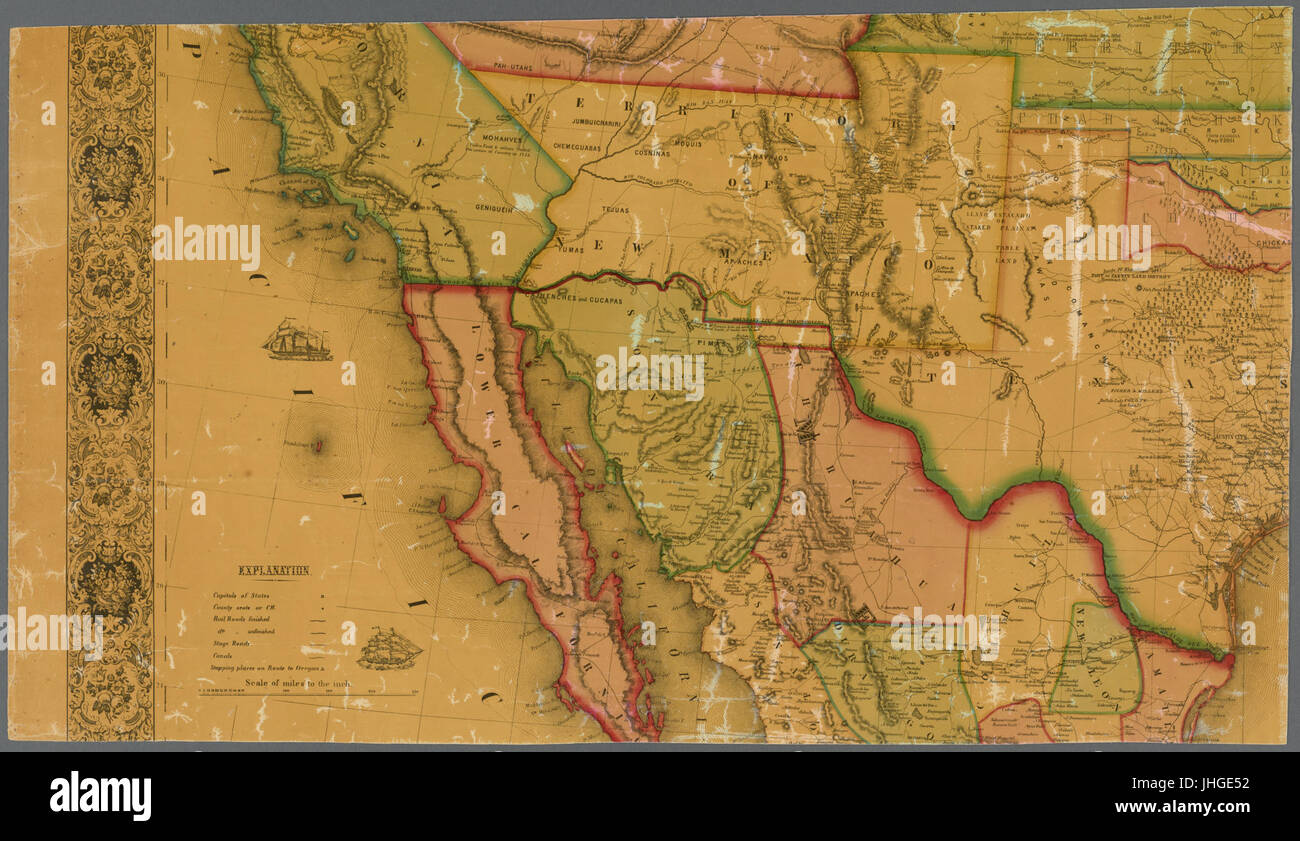 Map Of America 52 States.New Map Of That Portion Of North America Exhibiting The United