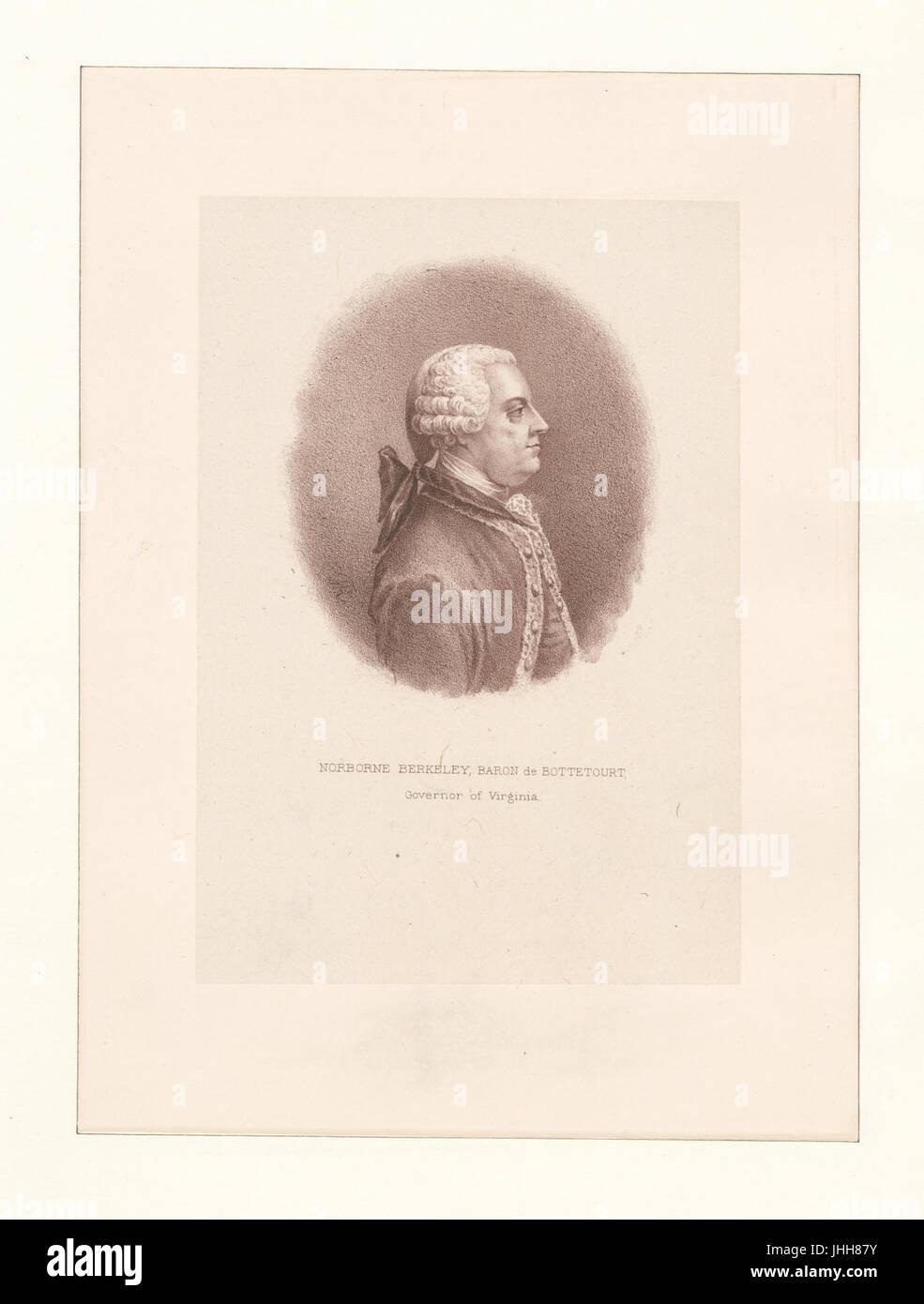 Norborne Berkeley, Baron de Bottetourt, Governor of Virginia (NYPL Hades-286747-1253704) Stock Photo