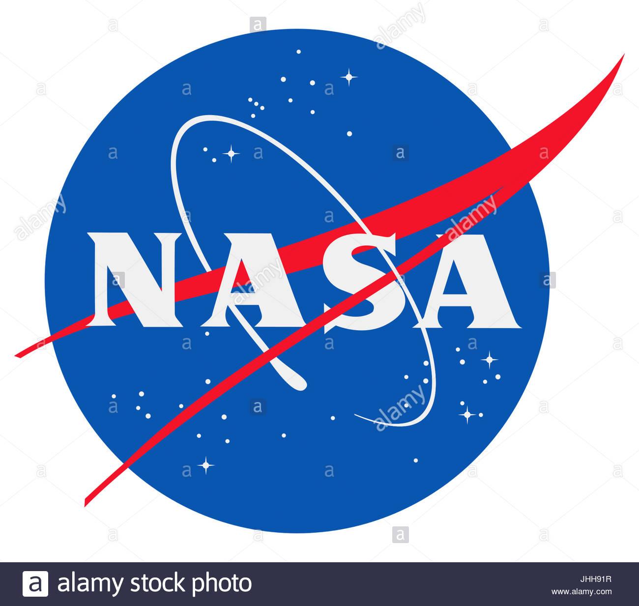 NASA logo icon - Stock Image